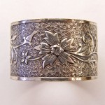 BR006 | Estate | Engraved Bracelet | Die Struck | Gold Silver | Floral
