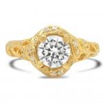 Yellow Gold Ladies Engagement Ring R10439