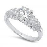 White Gold Ladies Engagement Ring R105