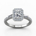 White Gold Ladies Engagement Ring R10332