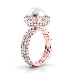 Limited Edition Rose Gold and Pearl Diamond Ring