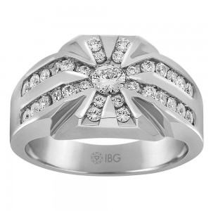 14k White Gold Mens Fashion Ring 59320XXX4X