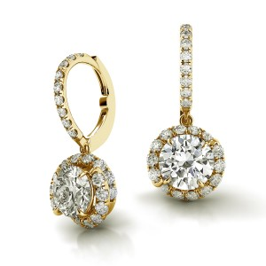 Swirl Diamond Drop Earrings AH101Y