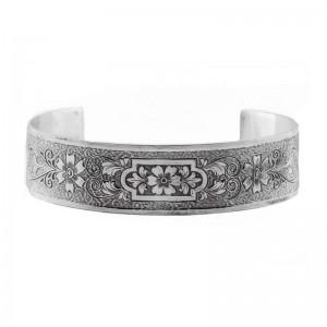 Estate | Die Struck | Bracelet | Gold Silver Platinum | Floral | Scrolls