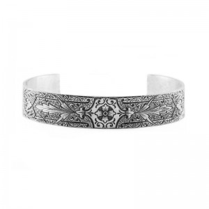 Vintage | Hand Engraved | Die Struck | Silver | Floral | Scrolls