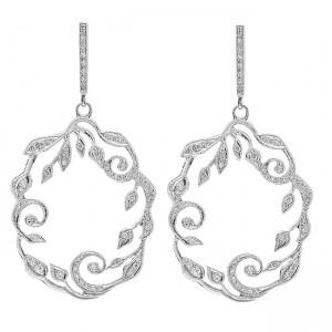 White Gold Ladies Earring E9868(C)-D,D
