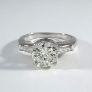 Platinum Ladies Engagement Ring R10115
