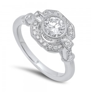 White Gold Ladies Engagement Ring R10332 D,D