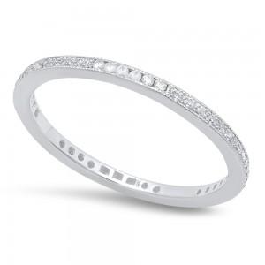 White Gold Ladies Wedding Band R4003