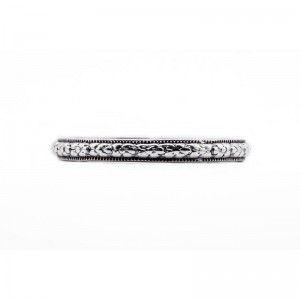 Estate Wedding Band | Gold Platinum | Heavily Engraved | Floral Band