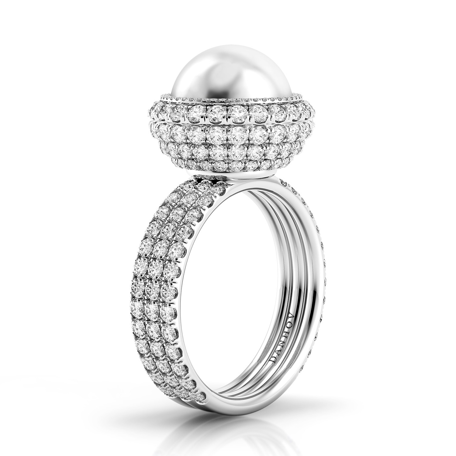Limited Edition Pearl Diamond Ring