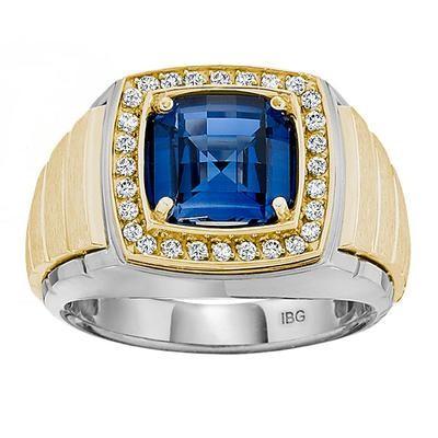 Two-Tone Mens Fashion Ring 52069SPH4X