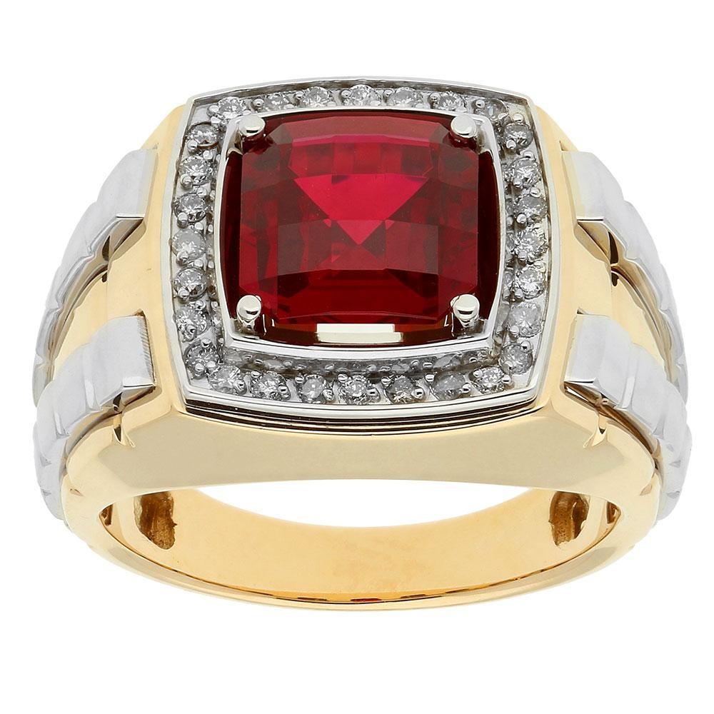 Two-Tone Mens Fashion Ring 52071GNT4X