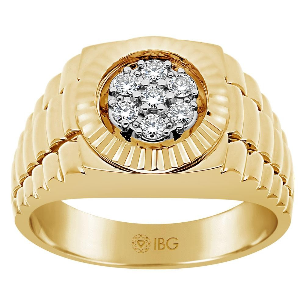 14k Yellow Gold Mens Fashion Ring 58111XCT4X