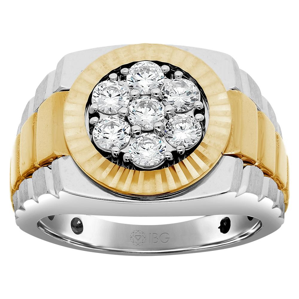Two-Tone Mens Fashion Ring 59119XCT4X