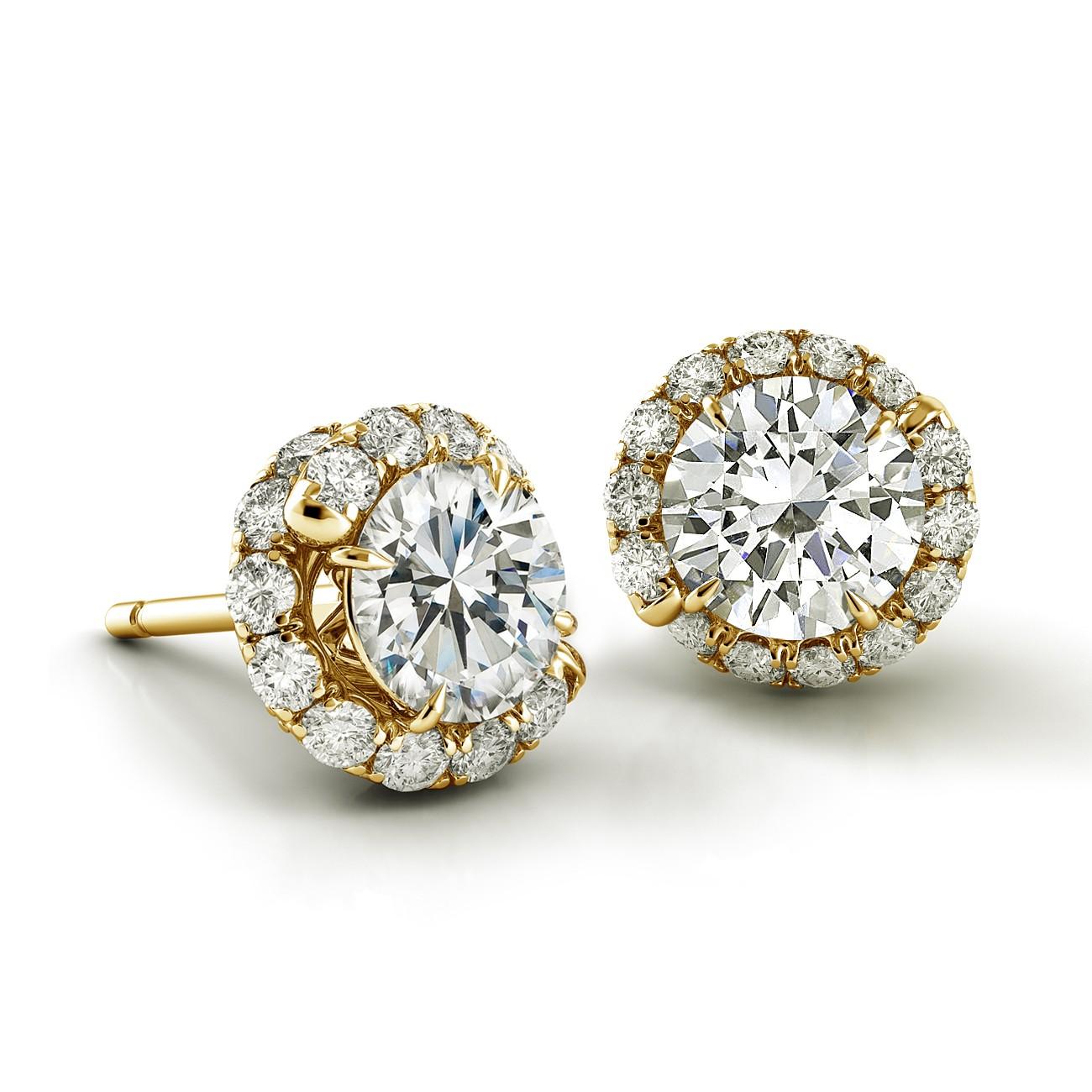 Swirl Diamond Earrings AH100Y