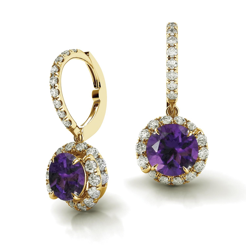 Swirl Diamond Drop Earrings AH101Y-AM