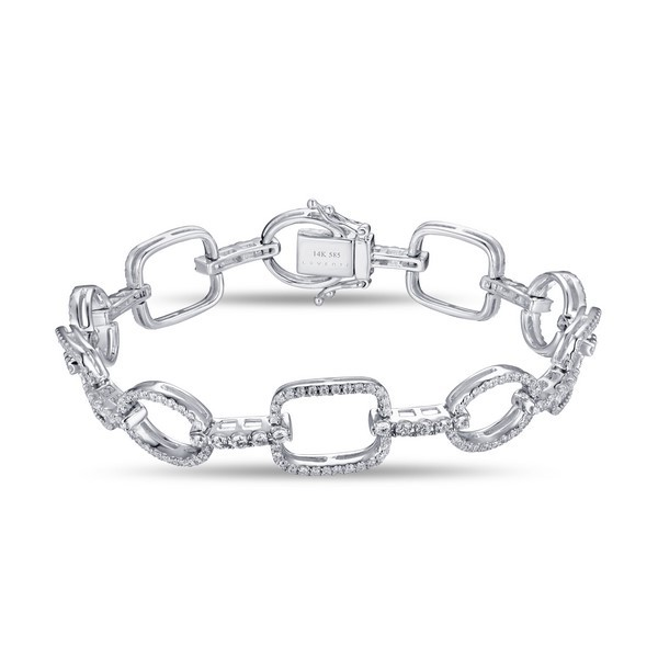 14k White Gold Ladies Bracelet B01124-RD.W