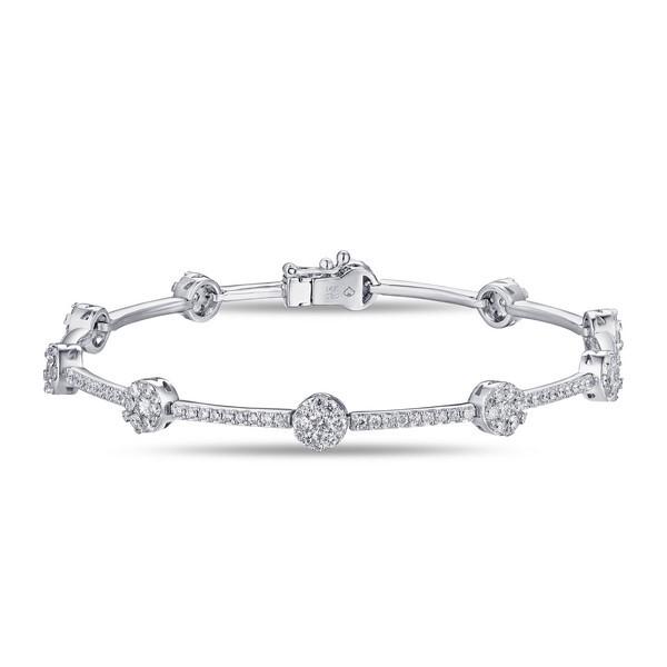 14k White Gold Ladies Bracelet B01134-RD.W