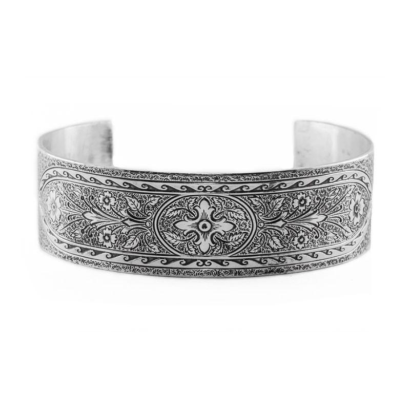 Estate   Engraved Bracelet   Die Struck   Gold Silver   Geometrical