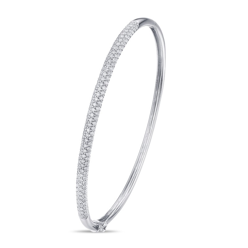 14k White Gold Ladies Bracelet BNG00049-RD.W