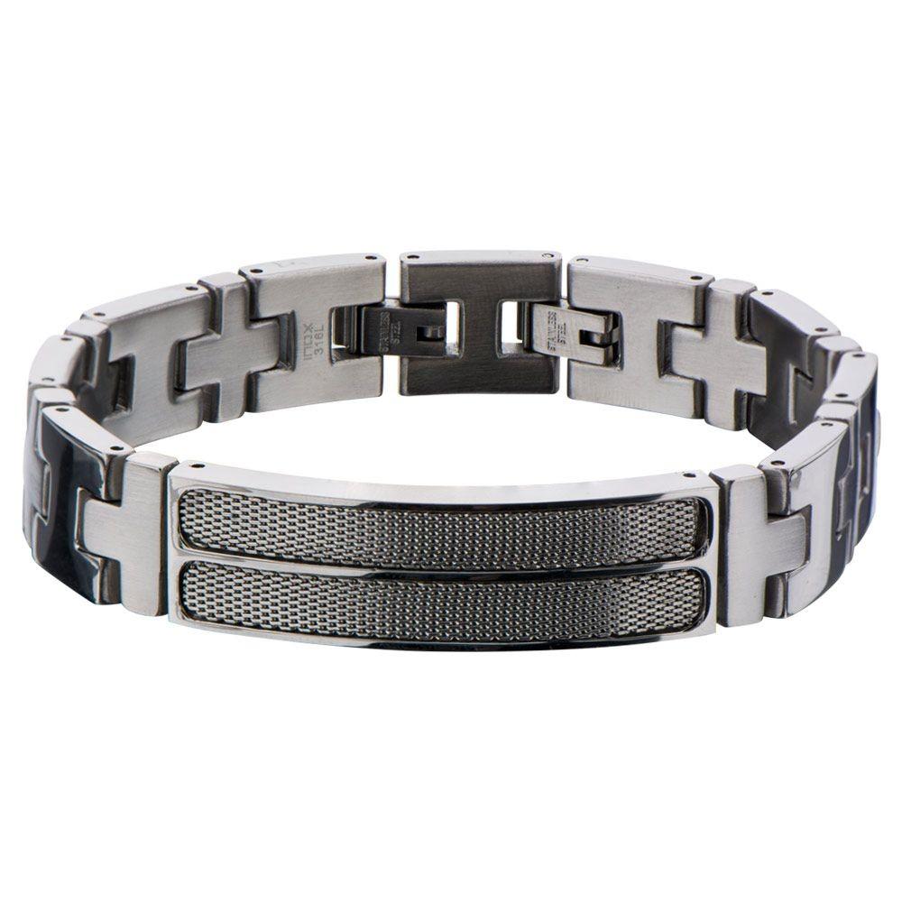 Mesh Polish Finished Link Bracelet
