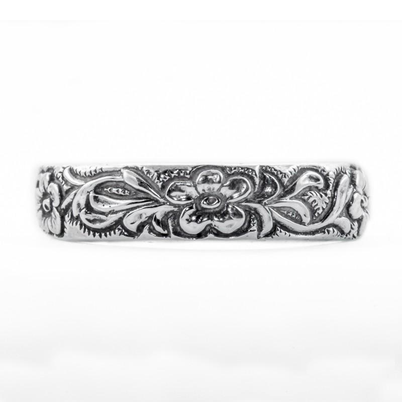 CB004 | Antique| Cigar Band | Gold Platinum Silver