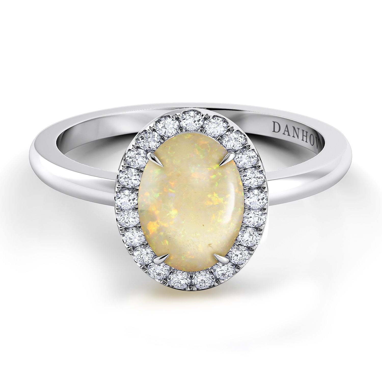 Oval Opal Diamond Ring