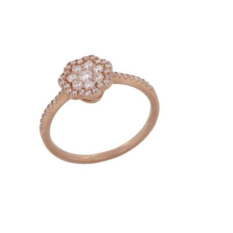 Luvente Pink Gold Ring