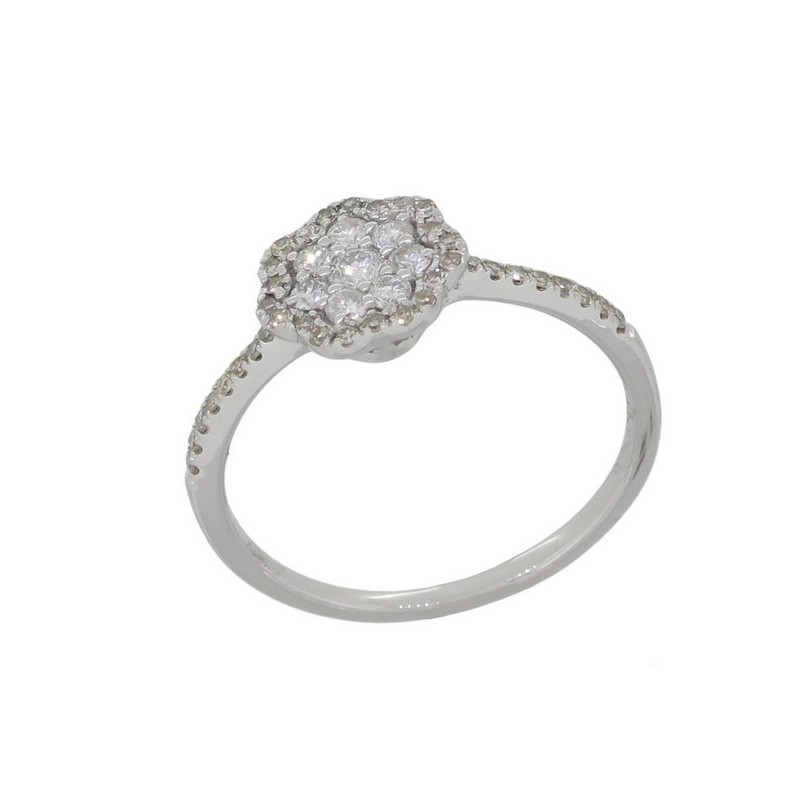 Luvente White Gold Ring