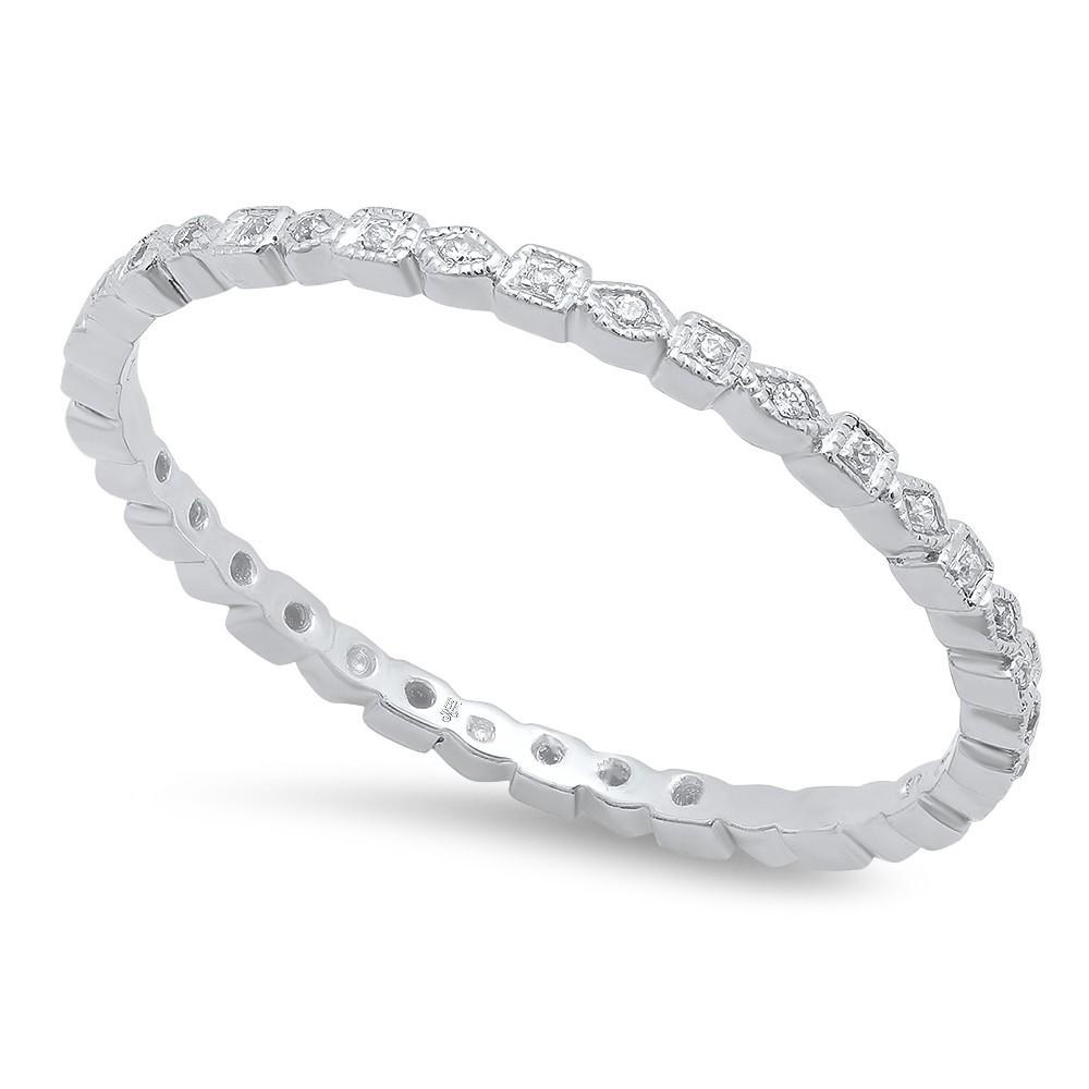White Gold Ladies Wedding Band R4008