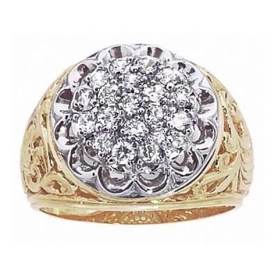 Two-Tone Mens Fashion Ring 01539--54B
