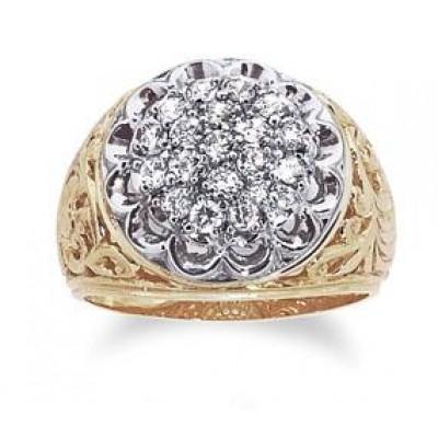 Two-Tone Mens Fashion Ring 01539-104B