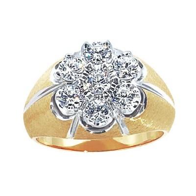 Two-Tone Mens Fashion Ring 03097X2R4X