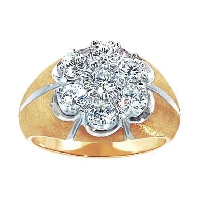 Two-Tone Mens Fashion Ring 03097XXR4S