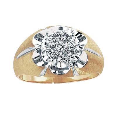 Two-Tone Mens Fashion Ring 04000X074S