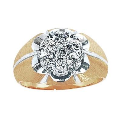 Two-Tone Mens Fashion Ring 04000X144S