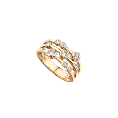14k Yellow Gold Ladies Fashion Ring LR7160G4YW
