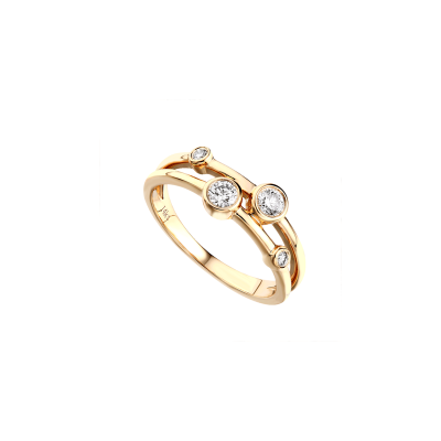 14k Yellow Gold Ladies Fashion Ring LR7162D4YW