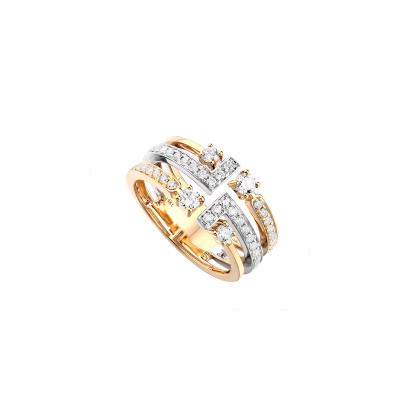 Two-Tone Ladies Fashion Ring LR7270I4VW