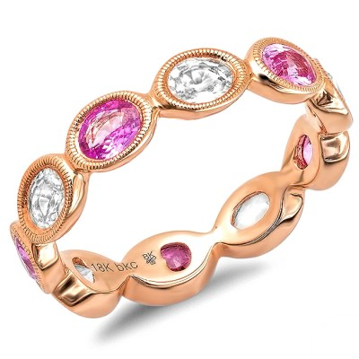 Rose Gold Ladies Wedding Band R9807-WS,PS