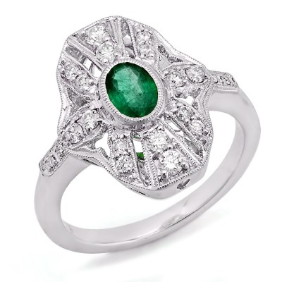 White Gold Ladies Fashion Ring R10104(A)-D,D,EM
