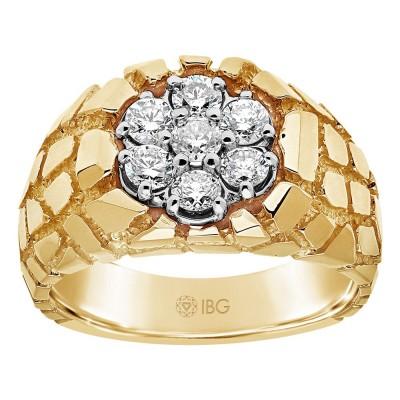 Two-Tone Mens Fashion Ring 55078-XX0Xi