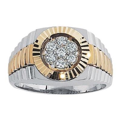 Two-Tone Mens Fashion Ring 58111ACT4X