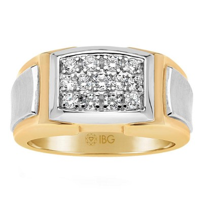 Two-Tone Mens Fashion Ring 58215XXX4X