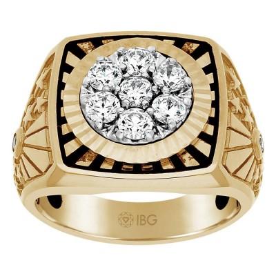 Two-Tone Mens Fashion Ring 59315XXX4Xi