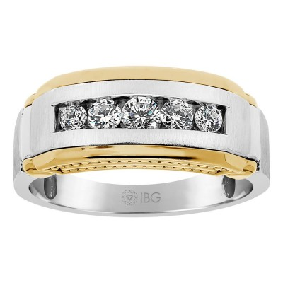 Two-Tone Mens Wedding Band 63873XGW4X
