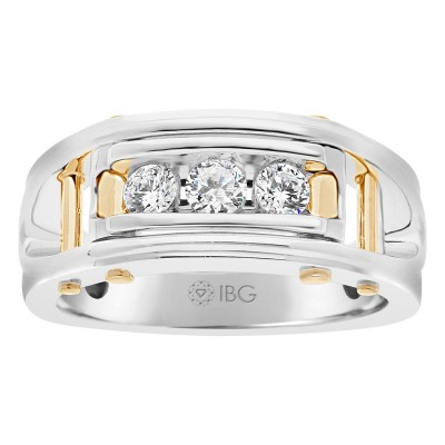 Two-Tone Mens Wedding Band 64089XGW4X
