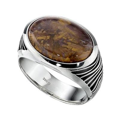 Sterling Silver Mens Fashion Ring 84204PET8X