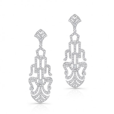 White Gold Ladies Earring E10463